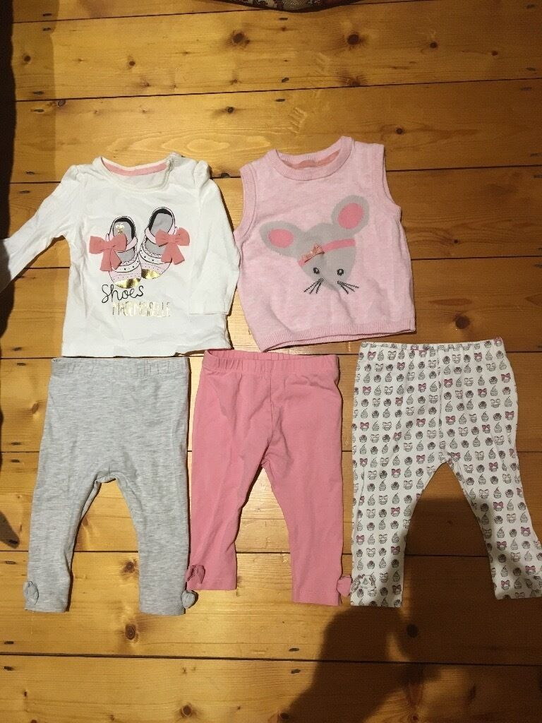 Mothercare baby girl set 3-6 month