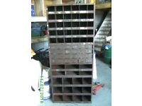 Steel VINTAGE pigeon hole shelves