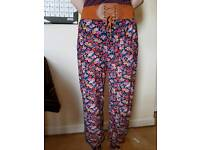 cute floral harem pants