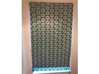 Blue Patterned Fabric (Blackout lining) Venetian Blind