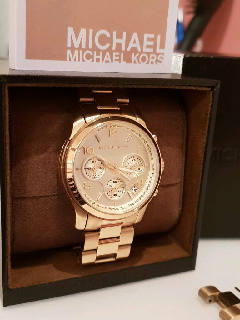 165529eb874b Ladies Michael Kors Runway Chronograph Watch MK5055