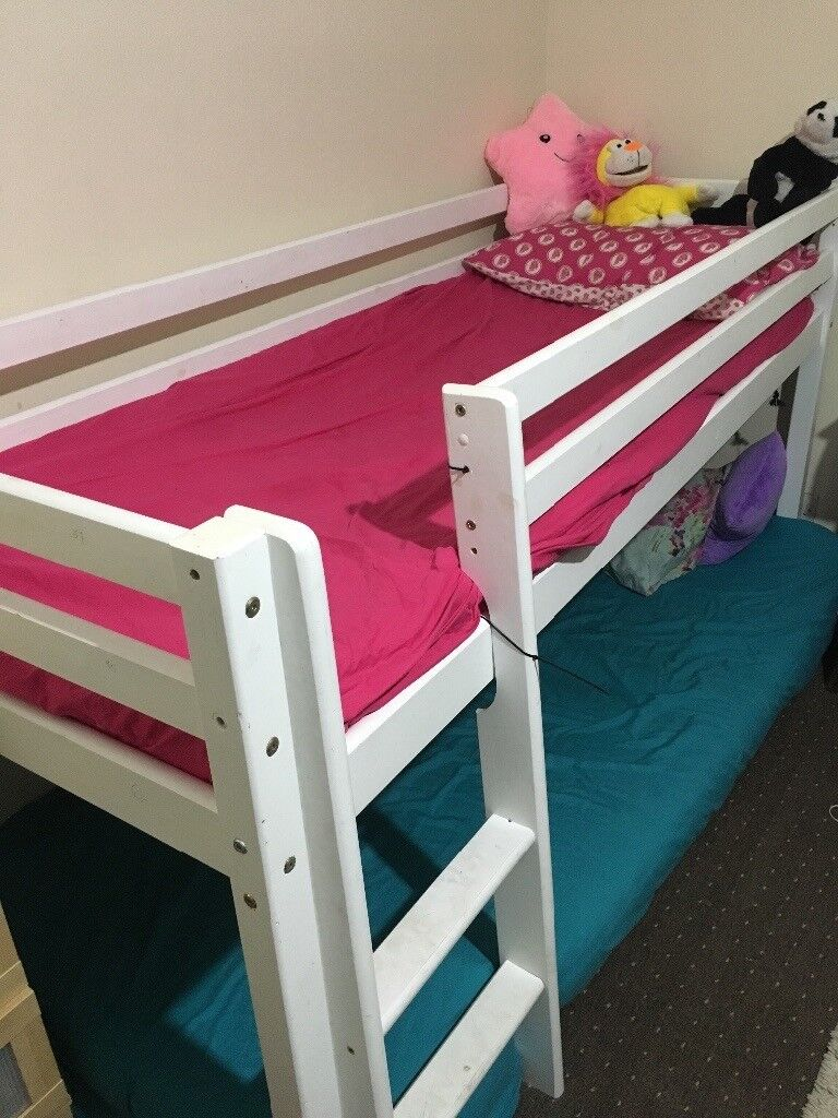 Kids Single Bunk Bed With Underneath Play Area In Hillingdon