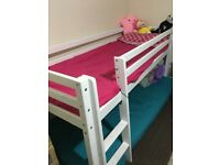 Kids single bunk bed with underneath play area