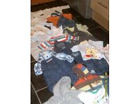 baby boy 0/3 months bundle outfits cardigans jackets jeans hats blanket etc
