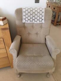 High armchair