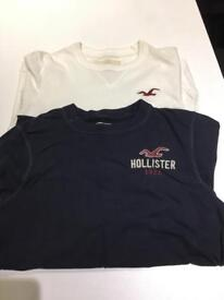 2 Genuine long sleeved hollister t-shirts