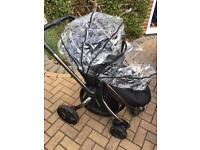 Mother Care Orb black pushchair with Adapters
