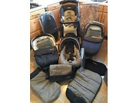 Mamas and Papas complete MPX travel system : pram/pushchair/car seat/carrycot etc.