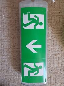 Emergency lights for fire exit