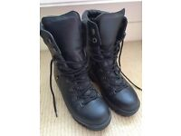 Brand new black military issue Goretex combat boots, size 6