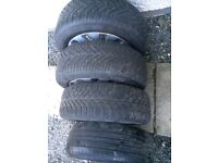 Mercedes 4 alloys and 4 good tyres