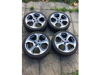 Ford Fiesta ST 180 200 alloy wheels with tyres grey 17 inch genuine with tyres