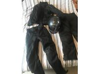 Motorcycle helmet and gear pristine condition