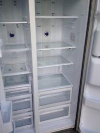 Samsung White American fridge freezer...Very Cheap Free Delivery
