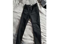 Black super skinny high waist jeans New Look