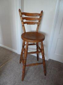 Pine Kitchen bar stool