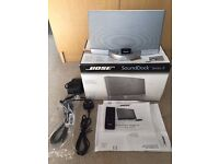 Bose SoundDock Series II inSilver with Bluetooth Link - Boxed With Remote & Papers
