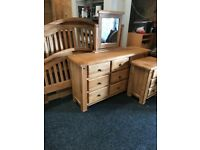 New double bed frame-large chest and locker
