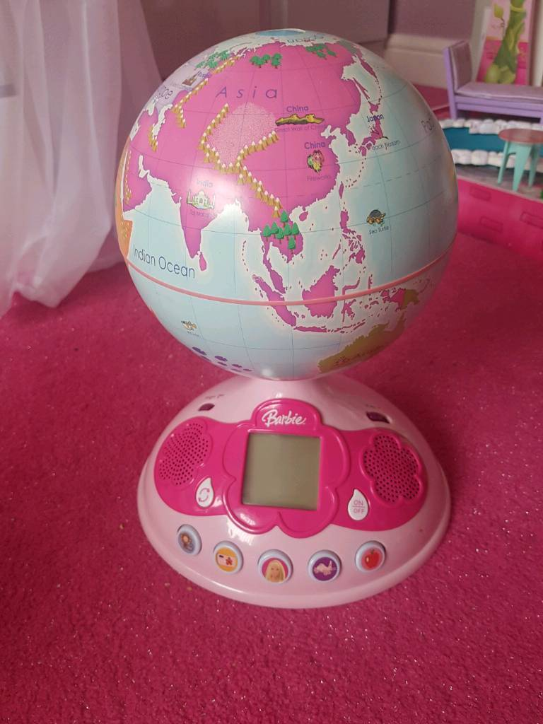 Barbie touch and teach learning globe
