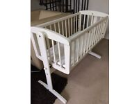 Mothercare Swing Crib and Mattress-good clean condition