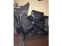 Double stroller used for a few months has a little rip in rain cover £50