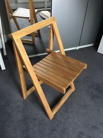 4 oak folding chairs