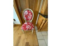 Balloon back bedroom Chair painted in French white
