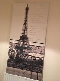 French Paris Print Canvaa