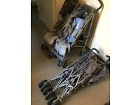 Maclaren double buggy pushchair stroller