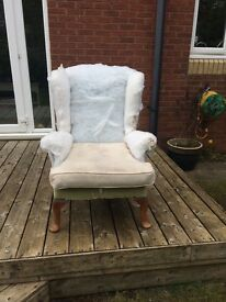 Parker Knoll chair - Project. Needs full upholstery.
