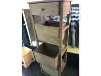 Rustic storage unit