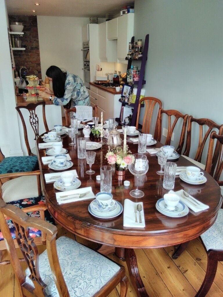 Stunning Large Vintage Edwardian Dining Table
