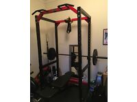 Bodymax CF475 Heavy Power Rack with 6ft/7ft Olympic bars & 100kg plates with stand