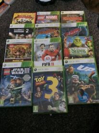 Xbox 360 +Kinect +2remote control and many games