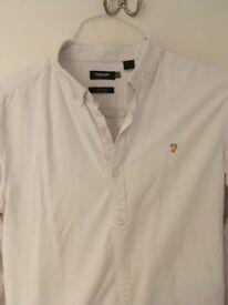 FARAH Vintage White Shirt w/Orange Logo - Great condition - Large - Slim Fit