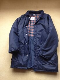 "Waxed jacket size 38"" in navy blue"