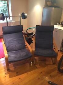 Ikea chairs x 2