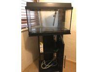 Aquarium tank, filter, heater & light