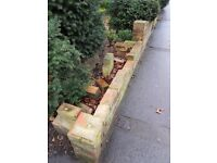Unhappy with your tired/damaged garden wall, let us build it for you using our spring discounts