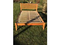 Double bed frame for immediate collection