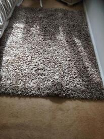 Reduced ! Brown beige dunelm rug