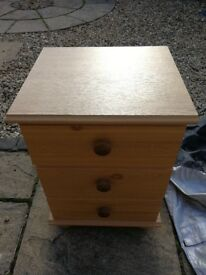 Pine effect bedside drawers