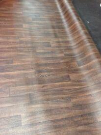 *** Walnut Effect Vinyl Floor Covering Also Beech / Oak coloured Vinyl Flooring 3mt & 4mt