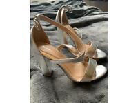 NEVER WORN - SCHUH Silver High Heels, size 4