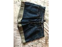 All saints denim shorts