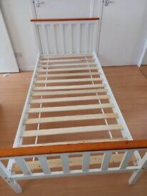 White single bed frame for sale