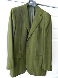 KITON MEN'S 100% PURE CASHMERE BLAZER US 42 R/L WORN ONCE, MINT OVER 90% OFF RET
