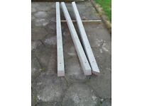 8ft cement posts 3 in total ordered to many so not needed