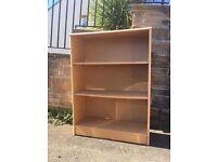 Three shelf bookshelf