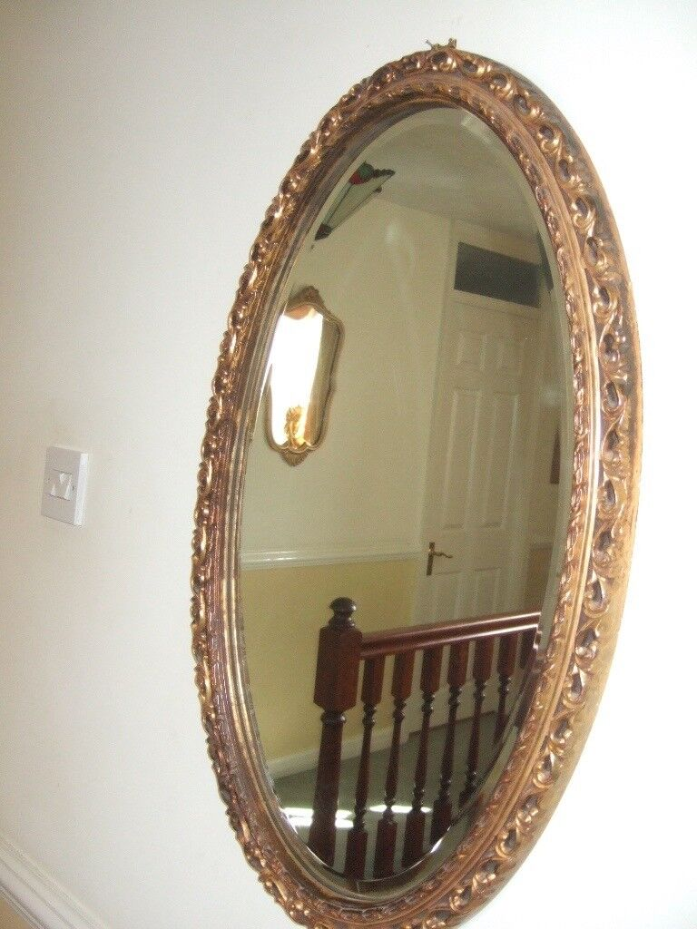 LARGE VICTORIAN MIRROR, BEVELLED EDGE